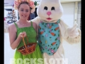 Easter bunny and minder